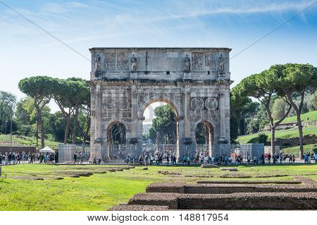 Constantine Arch Old Roman Architecture Monument