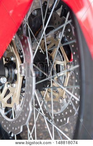 Motorcycle Metal Brake Close Up