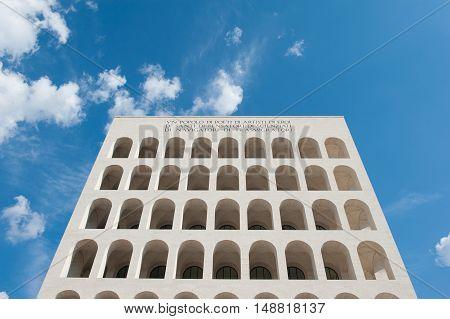 Palazzo Della Civilta Italiana, Rome Architecture Landmark