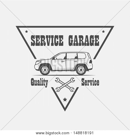 Car service logo and design elements - vector illustration