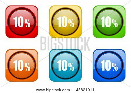 10 percent colorful web icons