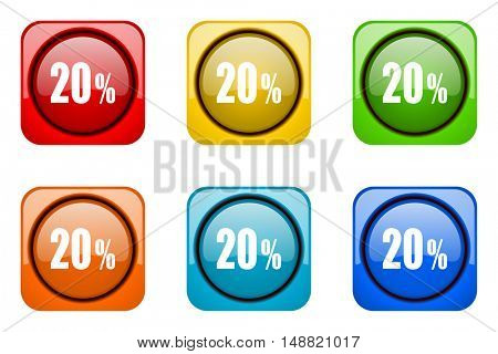20 percent colorful web icons