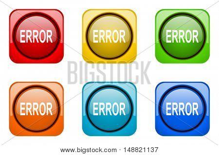 error colorful web icons