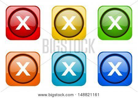 cancel colorful web icons