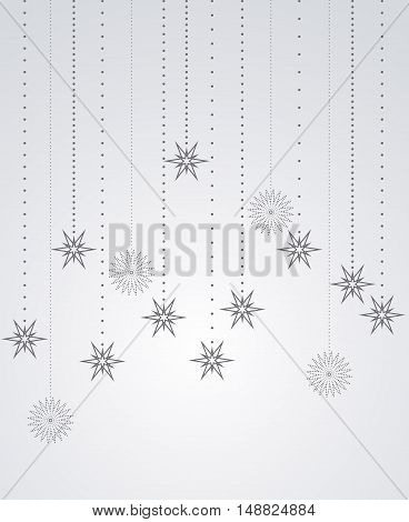 Christmas background with falling stars, illustration vector