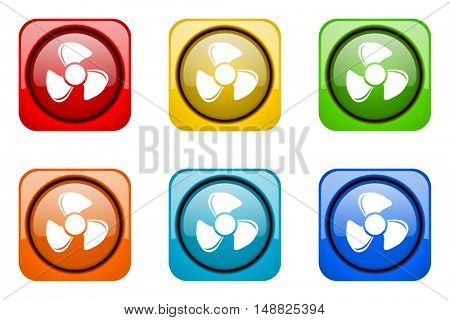 fan colorful web icons