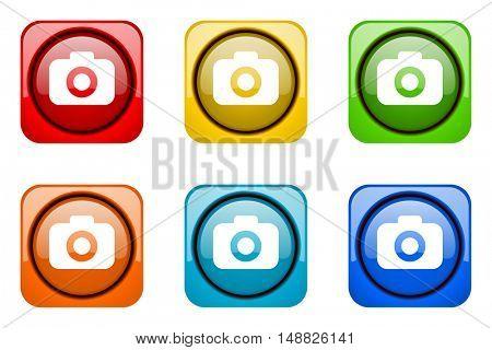 photo camera colorful web icons