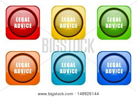 legal advice colorful web icons