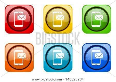 mail colorful web icons
