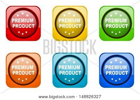 premium product colorful web icons