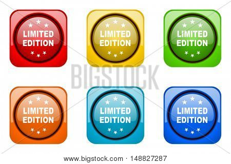 limited edition colorful web icons