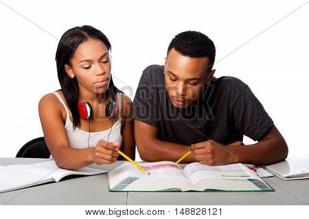 Students Helping Studying Together