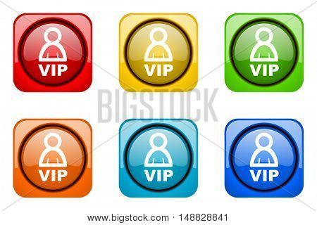 vip colorful web icons