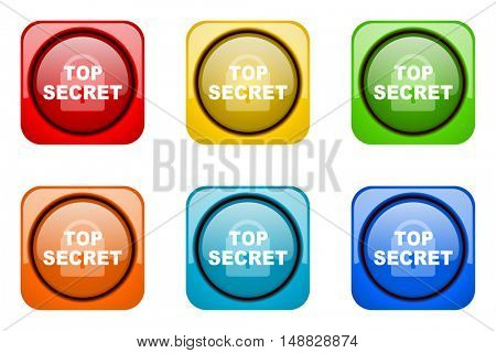 top seret colorful web icons