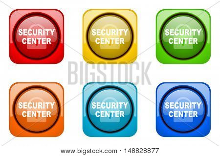 security center colorful web icons