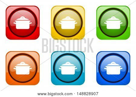 cook colorful web icons