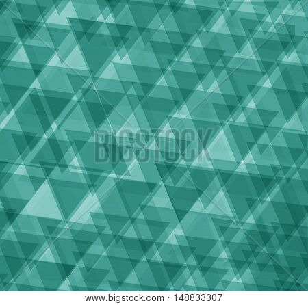 Emerald or azure abstract geometrical background. Triangle.