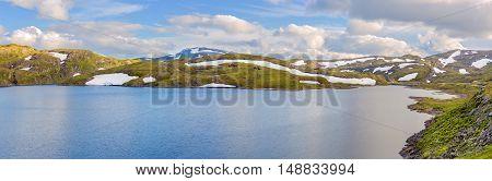 Landscape Panorama Around The  Vikafjellsvegen National Tourist Route To Vik, Norway