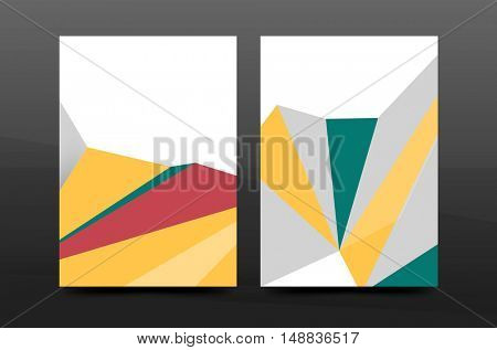 3d abstract geometric shapes. Modern minimal composition. Business annual report cover design. abstract background