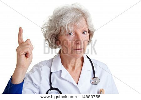Physician Scolding With Index Finger