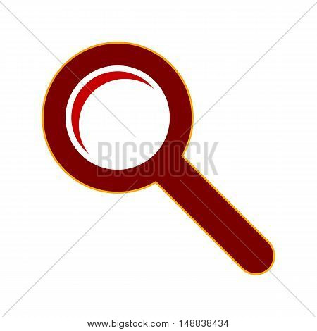 Search sign symbol on white backgroud. Vector illustration.