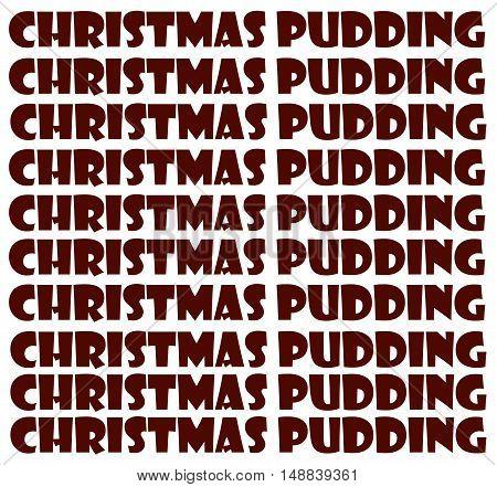 Abstract Creative Christmas Pudding Greeting Card Scene
