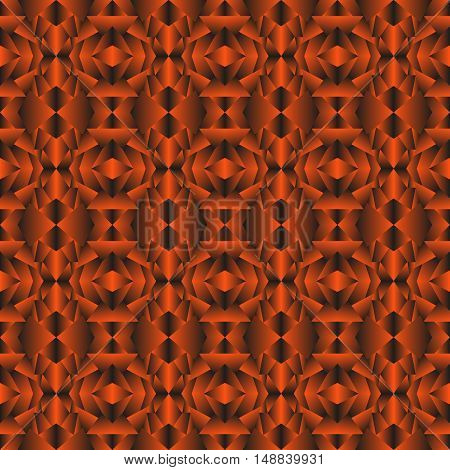 Bronze geometric texture. Abstract pattern in shades of brown.