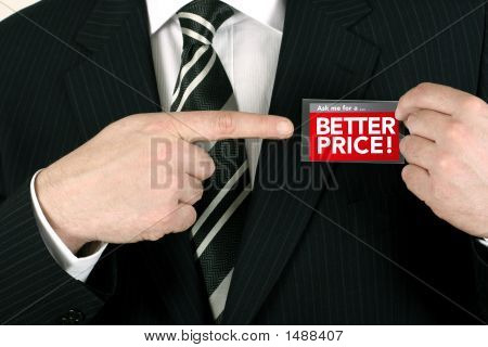 Salesman Offering A Bargain