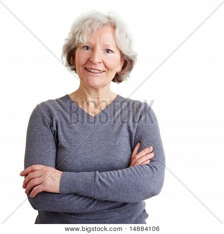 Confident Senior Woman Smiling