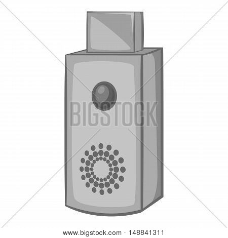 USB flash drive icon in black monochrome style isolated on white background. Device symbol vector illustration