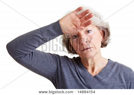 Exhausted Senior Woman