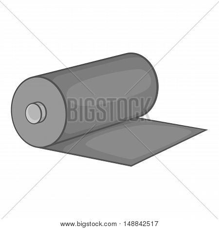 Fabric roll icon in black monochrome style isolated on white background. Sewing symbol vector illustration