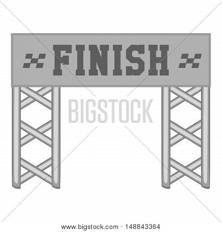 Finish race gate icon in black monochrome style isolated on white background. Sport symbol vector illustration