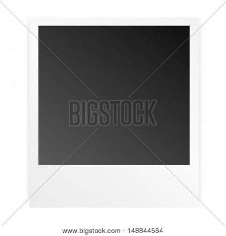 Vector Frame Instant Photo, Photo Paper With Realistic Shadow Isolated On White Background,