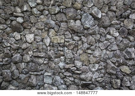 close up of stone wall background and texture