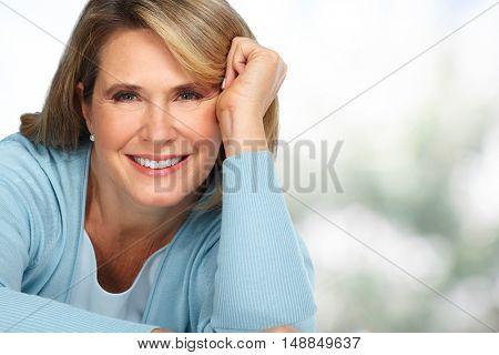 Beautiful elderly woman portrait.