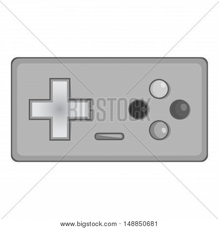 Joystick icon in black monochrome style isolated on white background. Play symbol vector illustration