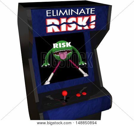 Eliminate Risk Reduce Danger Security Safety Arcade Game 3d Illustration