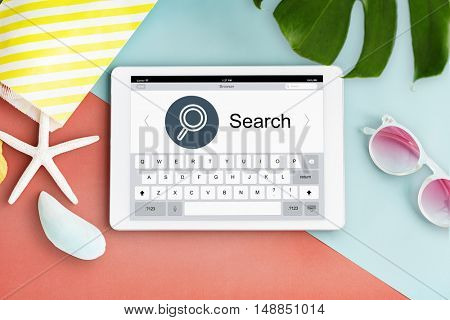 Find Search Browse Magnifying Glass Concept
