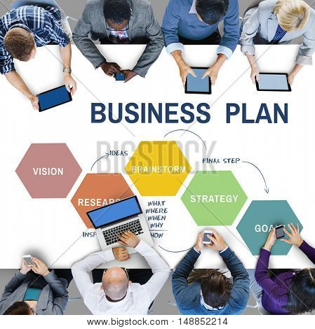 Business Plan Planning Strategy Solution Vision Concept