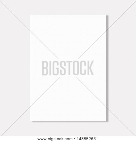 Abstract white paper sheet on white wall background.