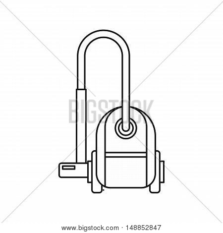 Vacuum cleaner icon in outline style isolated on white background. Cleaning symbol vector illustration