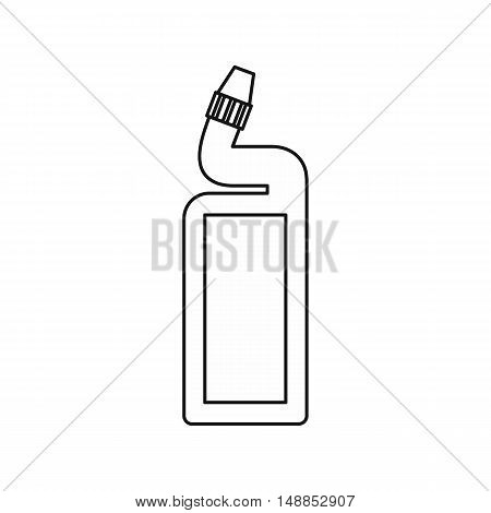 Disinfectant for the bathroom icon in outline style isolated on white background. Cleaning symbol vector illustration