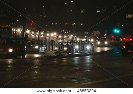 Traffic on an urban road