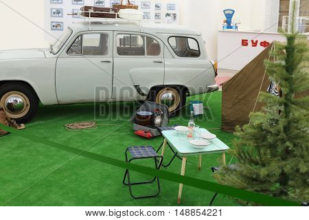 MOSCOW - MAR 9, 2015: Moskvich 423N, antique car and