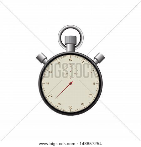 Retro vintage stopwatch isolated on white background vector illustration