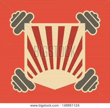 Image relative for gym. Bodybuilding club emblem