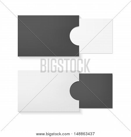 Blank realistic business cards mockup. Vector illustration