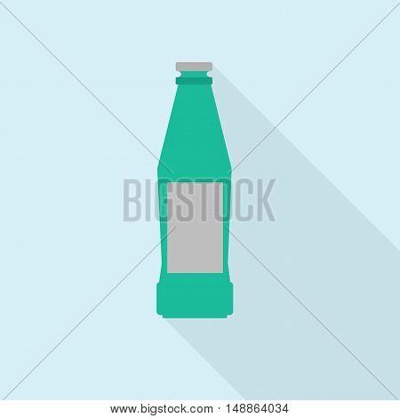 Icon bottle. symbol, icon, emblem. Vector illustration.