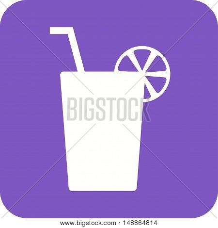 Juice, drink, lemon icon vector image. Can also be used for birthday. Suitable for use on mobile apps, web apps and print media.